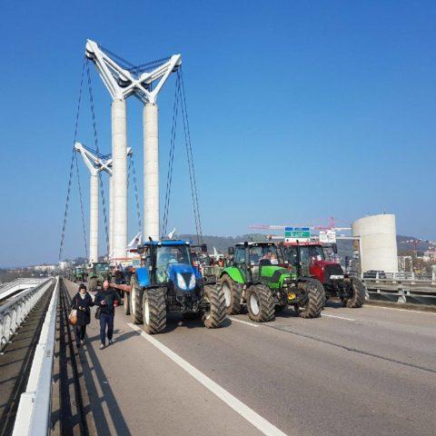Mobilisation FNSEA rouen 21 fevrier 2018 mercosur